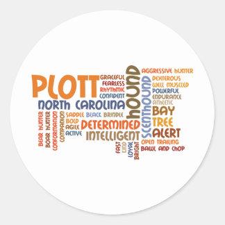 Plott Hound Classic Round Sticker