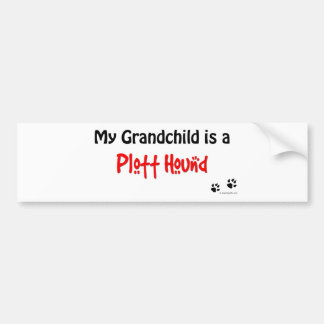 Plott Hound Grandchild Bumper Sticker