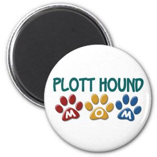 PLOTT HOUND Mom Paw Print 1 2 Inch Round Magnet