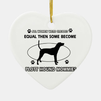 Plott Hound Mommy designs Ceramic Heart Ornament