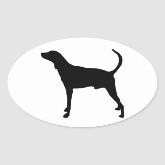 plott hound silhouette oval sticker