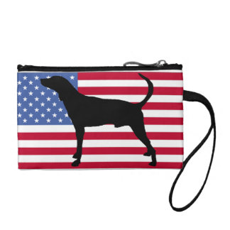 plott hound silhouette usa-flag coin purse