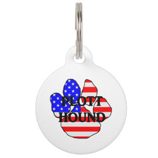 plott name usa-flag paw pet tag