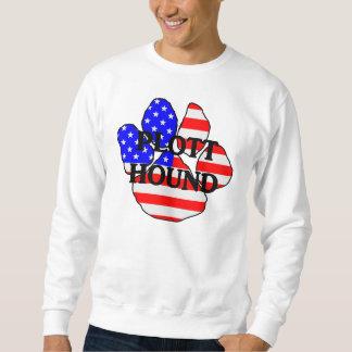 plott name usa-flag paw sweatshirt