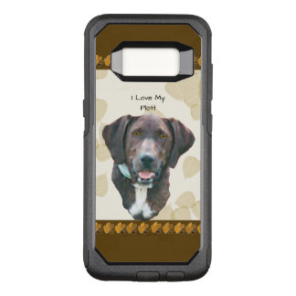 Plott on Tan Leaves with Brown Pawprints OtterBox Commuter Samsung Galaxy S8 Case