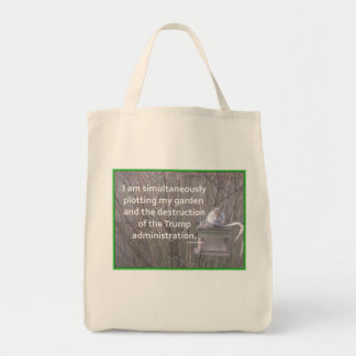 Plotting A Garden against Trump Tote Bag