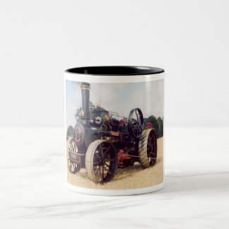 Ploughing(Plowing) Engine Two-Tone Coffee Mug