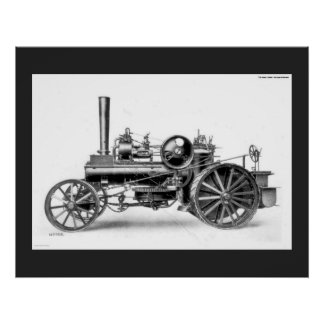 Ploughman's Traction Engine Poster