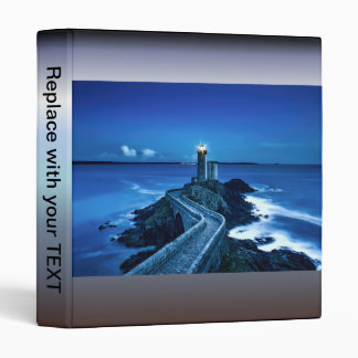 Plouzane, France - Lighthouse 3 Ring Binder