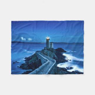 Plouzane, France - Lighthouse Fleece Blanket