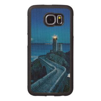 Plouzane, France, Lighthouse Wood Phone Case