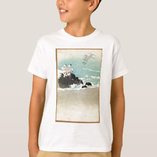 Plovers Over Waves - Anon - 1880 - woodcut T-Shirt