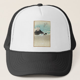 Plovers Over Waves - Anon - 1880 - woodcut Trucker Hat