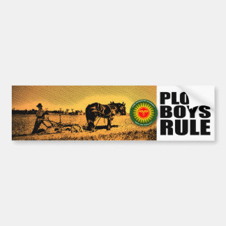 Plow Boys Rule Bumper Sticker