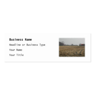 Plowed Field in Winter. Scenic. Mini Business Card