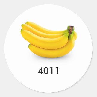 PLU Bananas Round Sticker