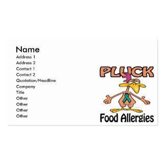 Pluck Food Allergies Awareness Design Pack Of Standard Business Cards