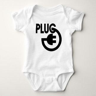 plug baby bodysuit