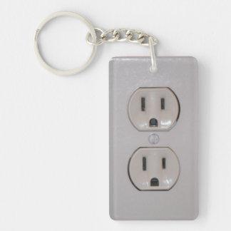 Plug Cover Double-Sided Rectangular Acrylic Keychain