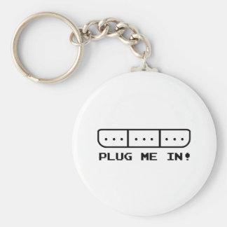 Plug Me In Basic Round Button Keychain