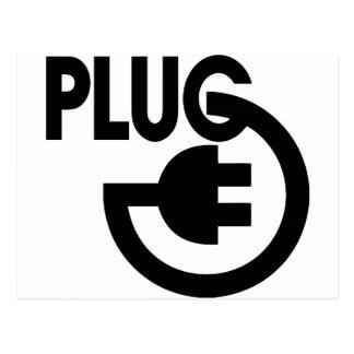 plug postcard