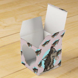 PLUM ALIEN CARTOON Heart 2x2 Party Favor Boxes