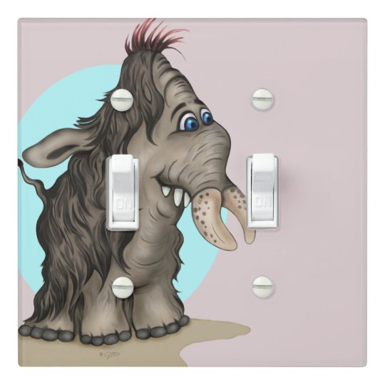PLUM ALIEN MONSTER LIGHT SWITCH Double Toggle