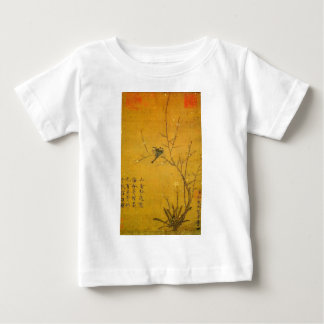 Plum and birds by Emperor Huizong Baby T-Shirt