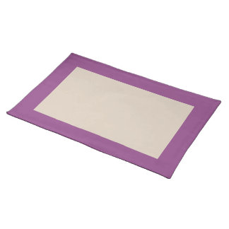 Plum and Champagne-Colored Placemat