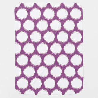 Plum Asian Moods Ikat Dots Baby Blanket