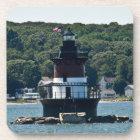 Plum Beach Lighthouse Cork Coaster