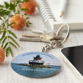 Plum Beach Lighthouse, Rhode Island Keychain