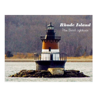 Plum Beach Lighthouse Rhode Island postcard