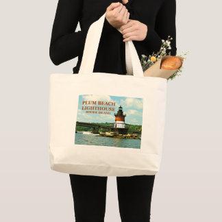 Plum Beach Lighthouse, Rhode Island Tote Bag