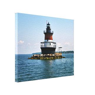 Plum Beach Lighthouse, Rhode Island Wrapped Canvas