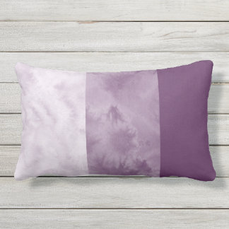 Plum Block Stripes Outdoor Pillow