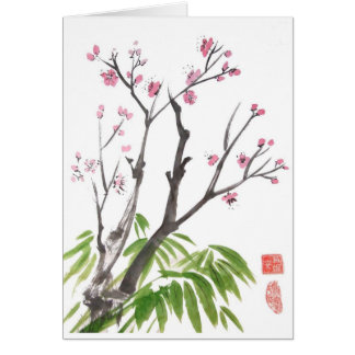 Plum Blossom and Bamboo Card