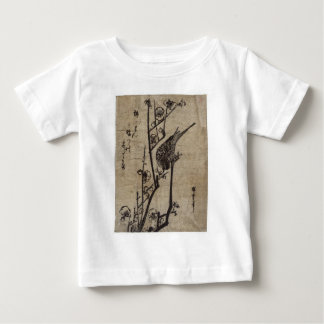 Plum Blossom and Bush Warbler by Hiroshige Baby T-Shirt
