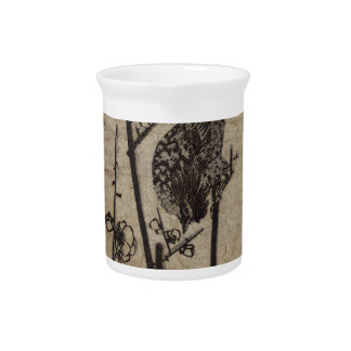 Plum Blossom and Bush Warbler by Hiroshige Drink Pitcher
