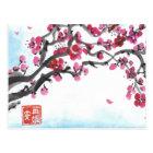 Plum Blossom Branch in Winter Postcard