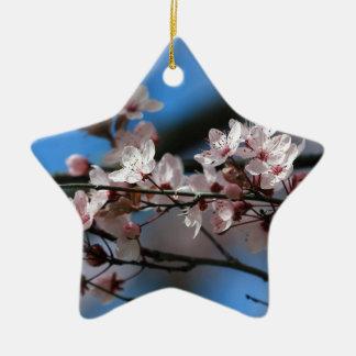 Plum blossom ceramic star ornament