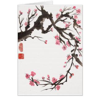 Plum Blossom Curve Blank Card