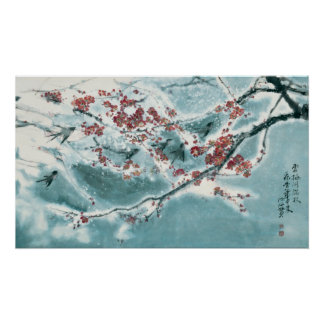 Plum Blossom in Snow Poster