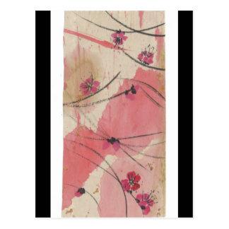 Plum Blossom Splash Postcard