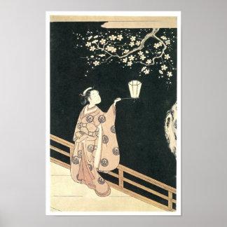 Plum Blossom Viewing Harunobu 1760s Posters