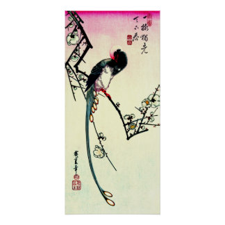 Plum Blossoms and Long-tailed Magpie 1844 Poster