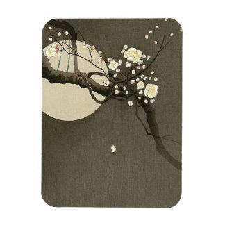 Plum Blossoms at Night by Ohara Koson Elegant Magnet
