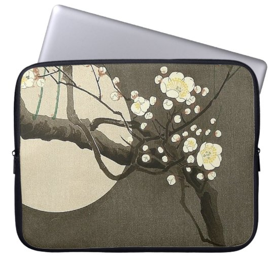 Plum Blossoms at Night by Ohara Koson Vintage Laptop Computer Sleeves