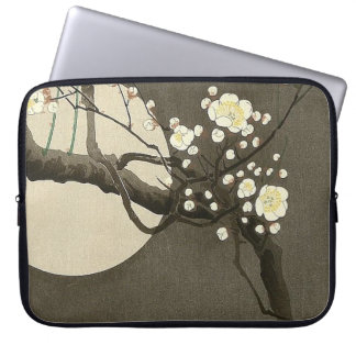 Plum Blossoms at Night by Ohara Koson Vintage Laptop Sleeve
