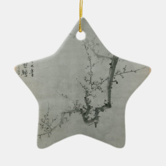 Plum Branch - Yi Yuwon Ceramic Star Ornament